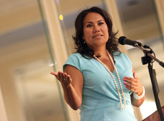 County Judge Veronica Escobar delivers the State of the County Address.