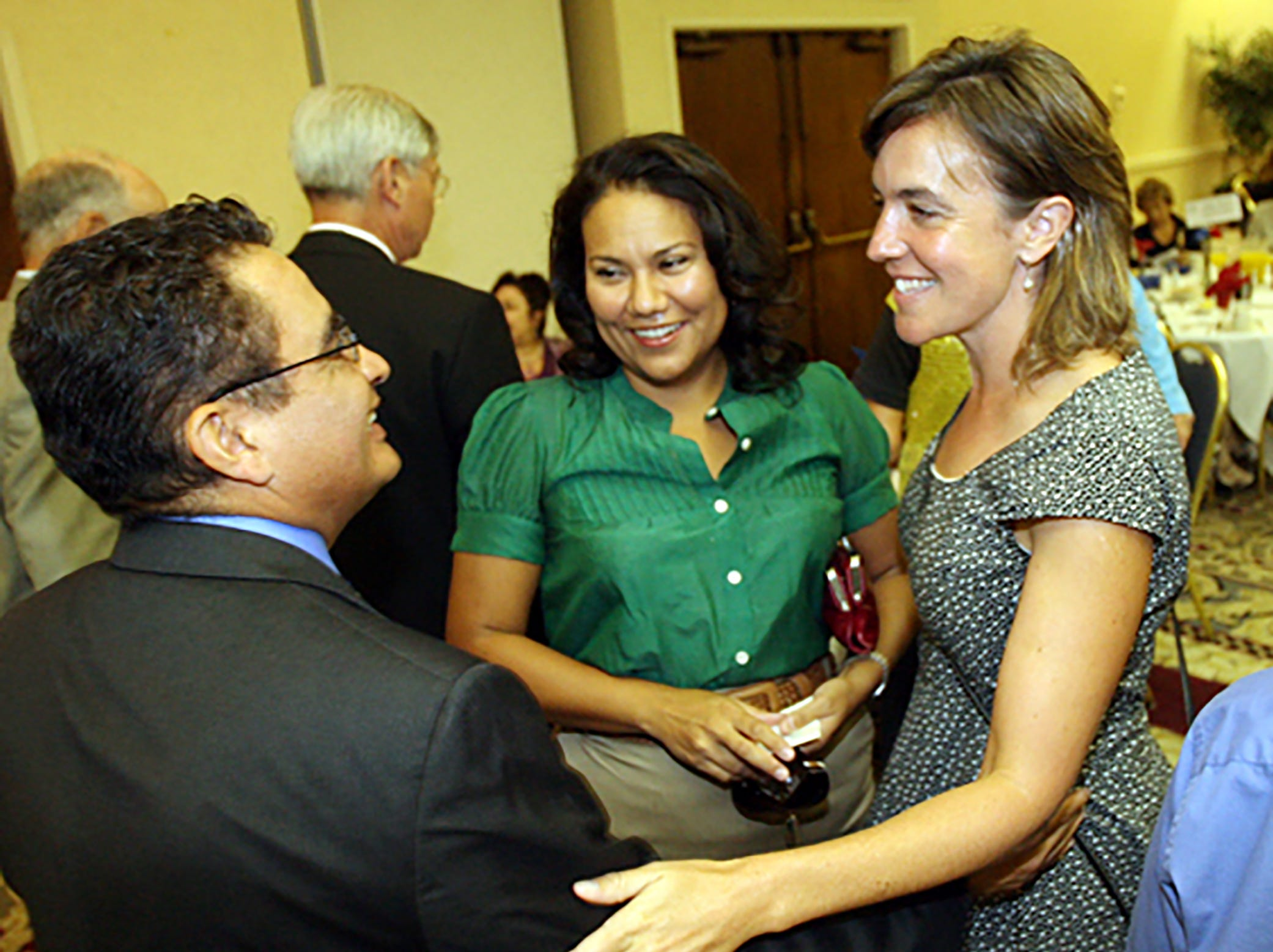 County judge Veronica Escobar and Susie Byrd along with District Attorney Jaime Esparza.
