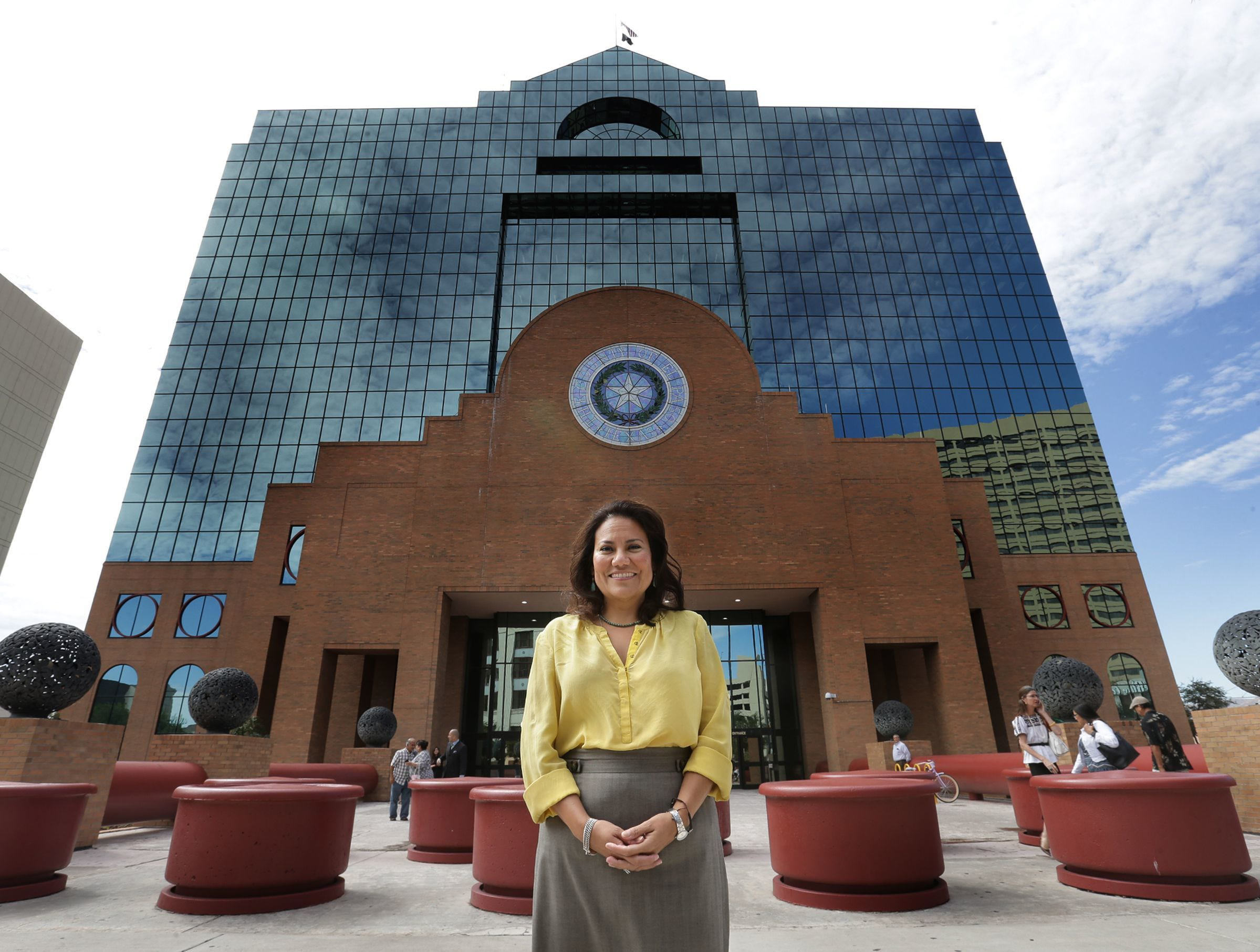 El Paso County Judge Veronica Escobar announced Friday she is resigning to run for the congressional seat being vacated by U.S. Rep. Beto O'Rourke, D-El Paso.