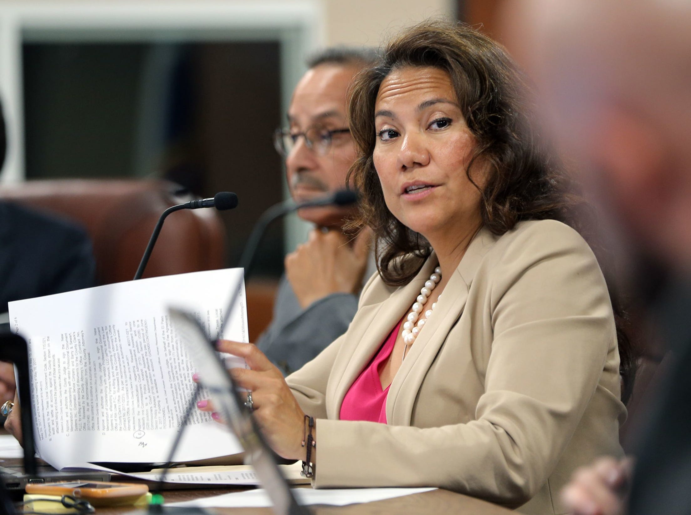 El Paso County Judge Veronica Escobar made a motion Monday to limit the hours of alcohol sales at the El Paso County Sportspark.