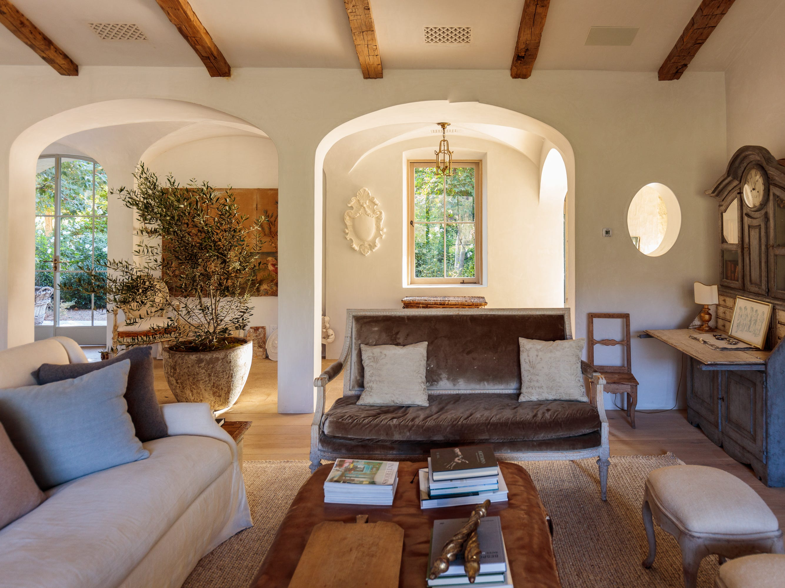 The living room of Patina Farm, a five-acre property that is part of the 22nd annual Ojai Holiday Home Tour & Marketplace on Nov. 10 and 11.