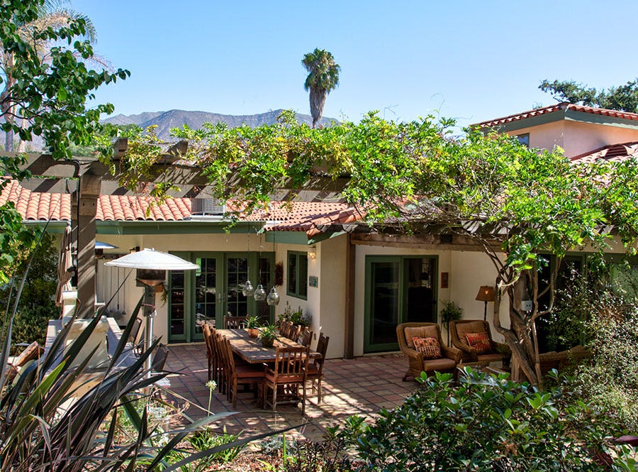 """An exterior shot of """"Serenity in the City,"""" which boasts this intimate private garden. The home is part of the 22nd annual Ojai Holiday Home Tour & Marketplace on Nov. 10 and 11."""