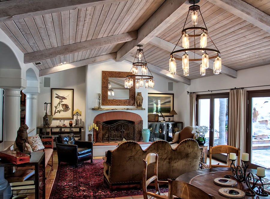 """The living room of the """"Love Nest"""" home near Rancho Matilija. It is part of the 22nd annual Ojai Holiday Home Tour & Marketplace on Nov. 10 and 11."""