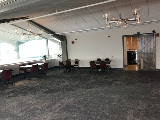 The events center where Sunday brunch buffet is held. Businesses can hold meetings in here as well.