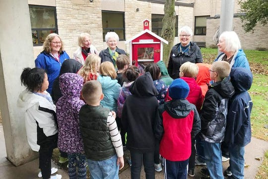 Students at Franklin Elementary School in Wausau celebrated the opening of a Little Free Library. The school is one of many that could be consolidated under a proposed referendum in the Wausau School District.
