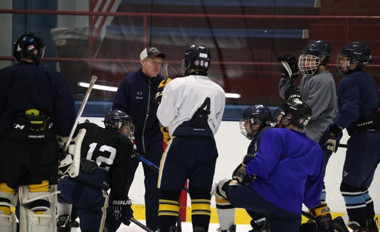 Suffern's first hockey practice of the season at Sport-O-Rama in Monsey Nov. 5, 2018.