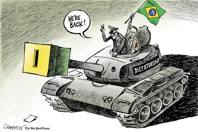 Editorial cartoon about recent Brazilian elections
