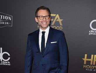 Actor Christian Slater arrives for the 22nd Annual Hollywood Film Awards at the Beverly Hilton hotel in Beverly Hills on November 4, 2018. (Photo by Mark RALSTON / AFP)MARK RALSTON/AFP/Getty Images ORG XMIT: 22nd Annu ORIG FILE ID: AFP_1AK83R