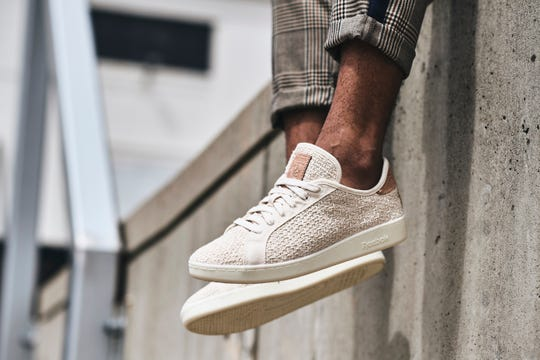 """In early November, Reebok unveiled a second batch of its new """"Cotton + Corn"""" shoes with a twist: In addition to being bio-based, they're vegan, too. A tiny bit of vegetable-tanned leather that had been on the first batch of the shoes has been replaced with a vegan-friendly material."""