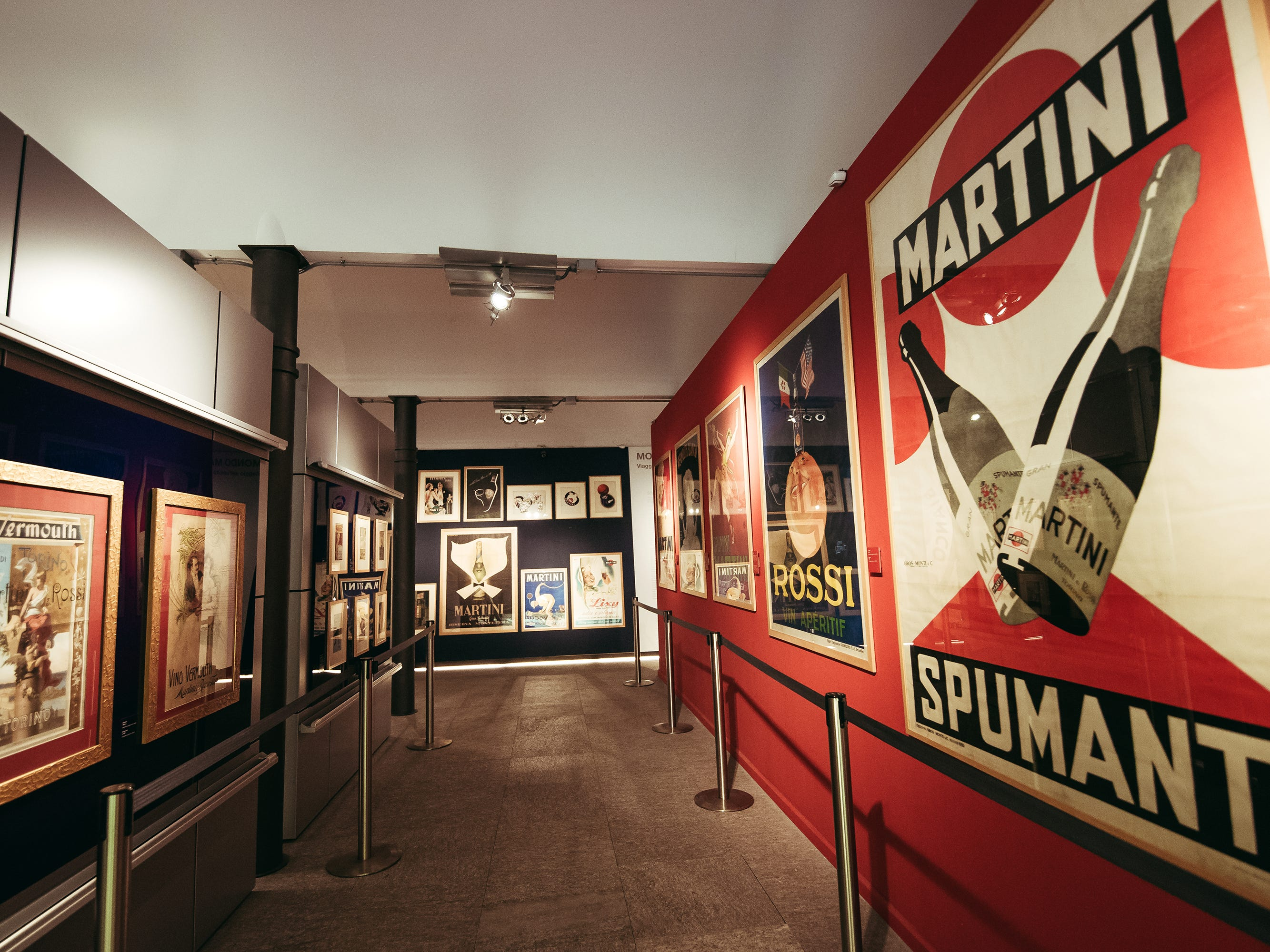 The Mondo Martini gallery includes a collection of Martini advertisements and memorabilia from the past century and a half, dating to the brand's inception in 1863.