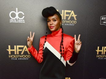BEVERLY HILLS, CALIFORNIA - NOVEMBER 04: Janelle Monáe poses in press room at the 22nd Annual Hollywood Film Awards on November 04, 2018 in Beverly Hills, California. (Photo by Rodin Eckenroth/Getty Images) ORG XMIT: 775237955 ORIG FILE ID: 1063539430