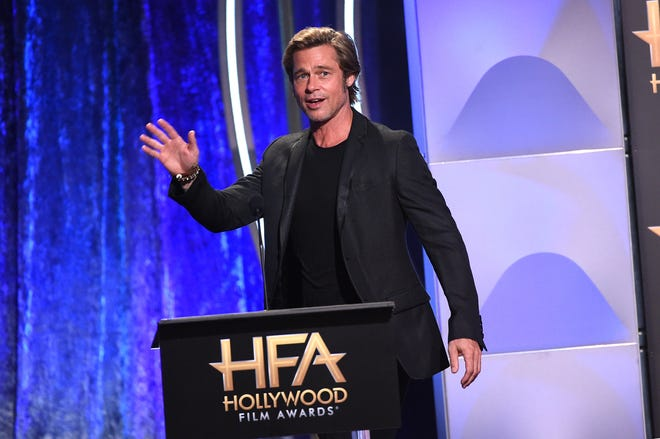 Brad Pitt turned out for the 22nd annual Hollywood Film Awards on Sunday.