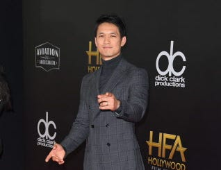 Actor Harry Shum Jr. arrives for the 22nd Annual Hollywood Film Awards at the Beverly Hilton hotel in Beverly Hills on November 4, 2018. (Photo by Mark RALSTON / AFP)MARK RALSTON/AFP/Getty Images ORG XMIT: 22nd Annu ORIG FILE ID: AFP_1AK7W2