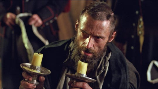 "Hugh Jackman as Jean Valjean in ""Les Miserables."""