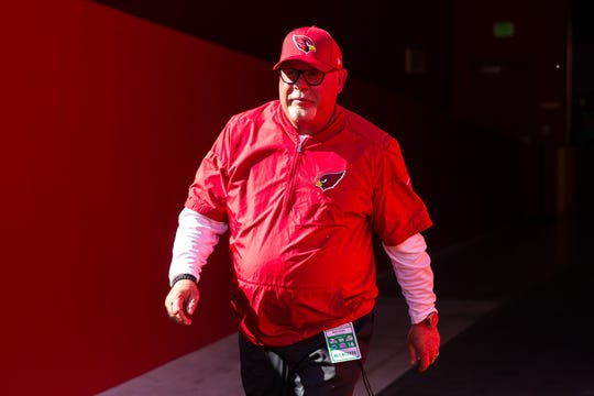 Arizona Cardinals head coach Bruce Arians before the game against the San Francisco 49ers at Levi's Stadium.