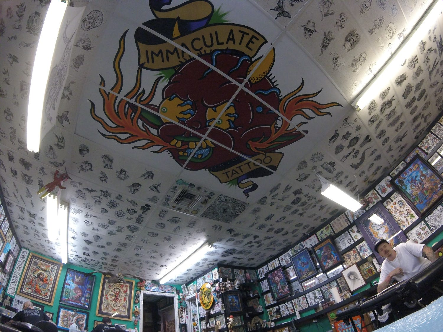 Immaculate Tattoo in Mesa. Arizona, lures in customers with an amazing art collection.