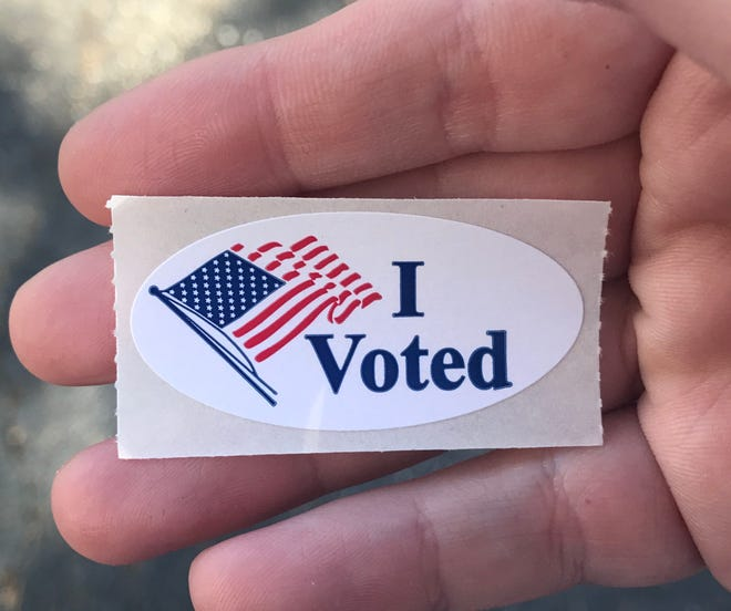 A voting sticker.