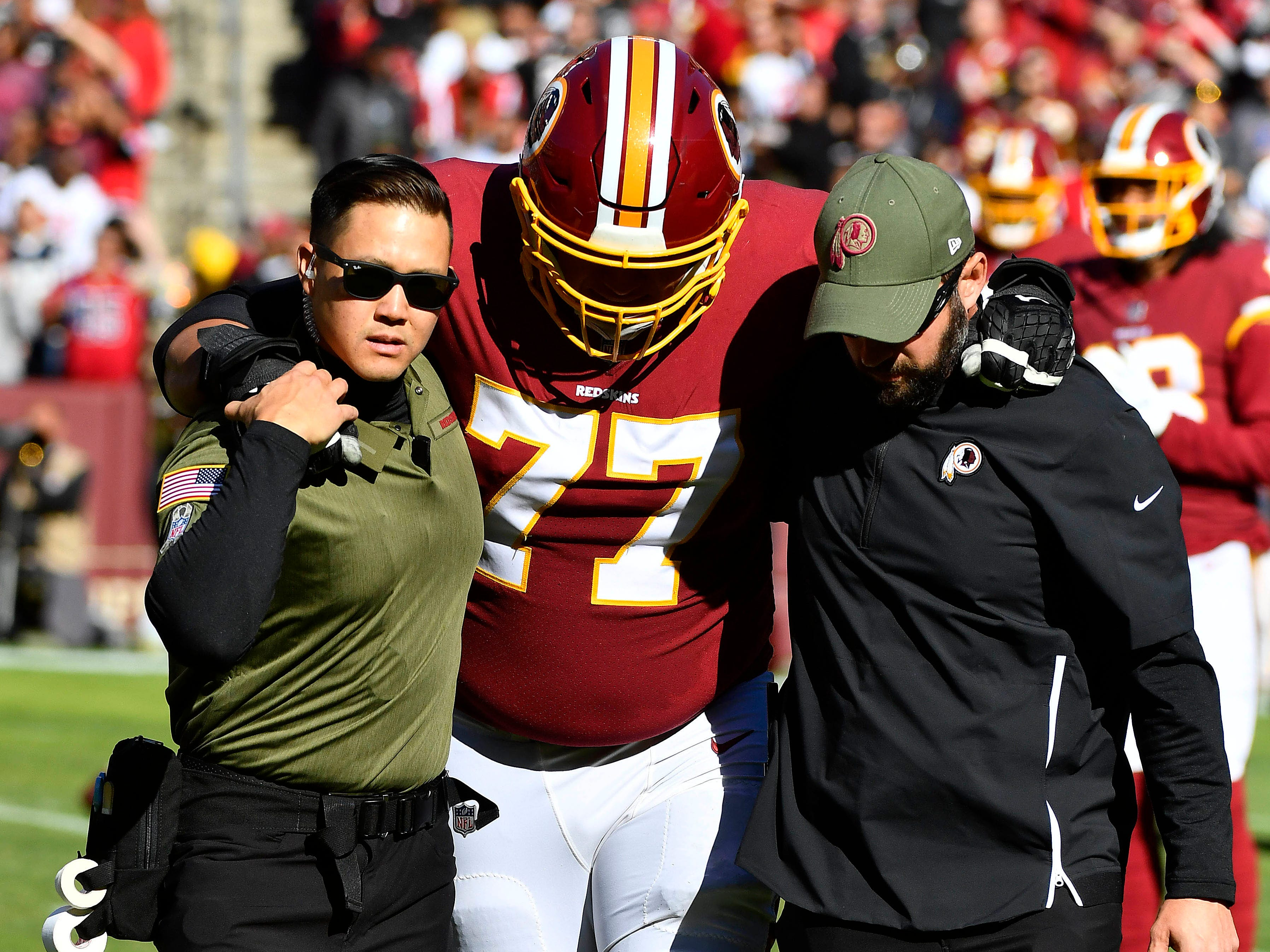 Shawn Lauvao, offensive guard, Washington Redskins (torn ACL, out for season)