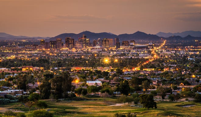 Phoenix at sunset.