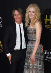 On Sunday night, Nicole Kidman received the Career Achievement Award at L.A.'s Hollywood Film Awards, with husband Keith Urban by her side.