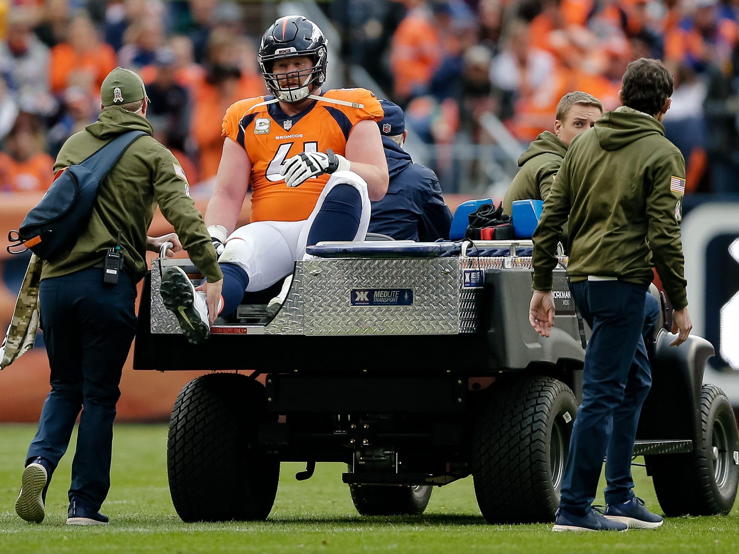 Matt Paradis, center, Denver Broncos (fractured right fibula, out for season)