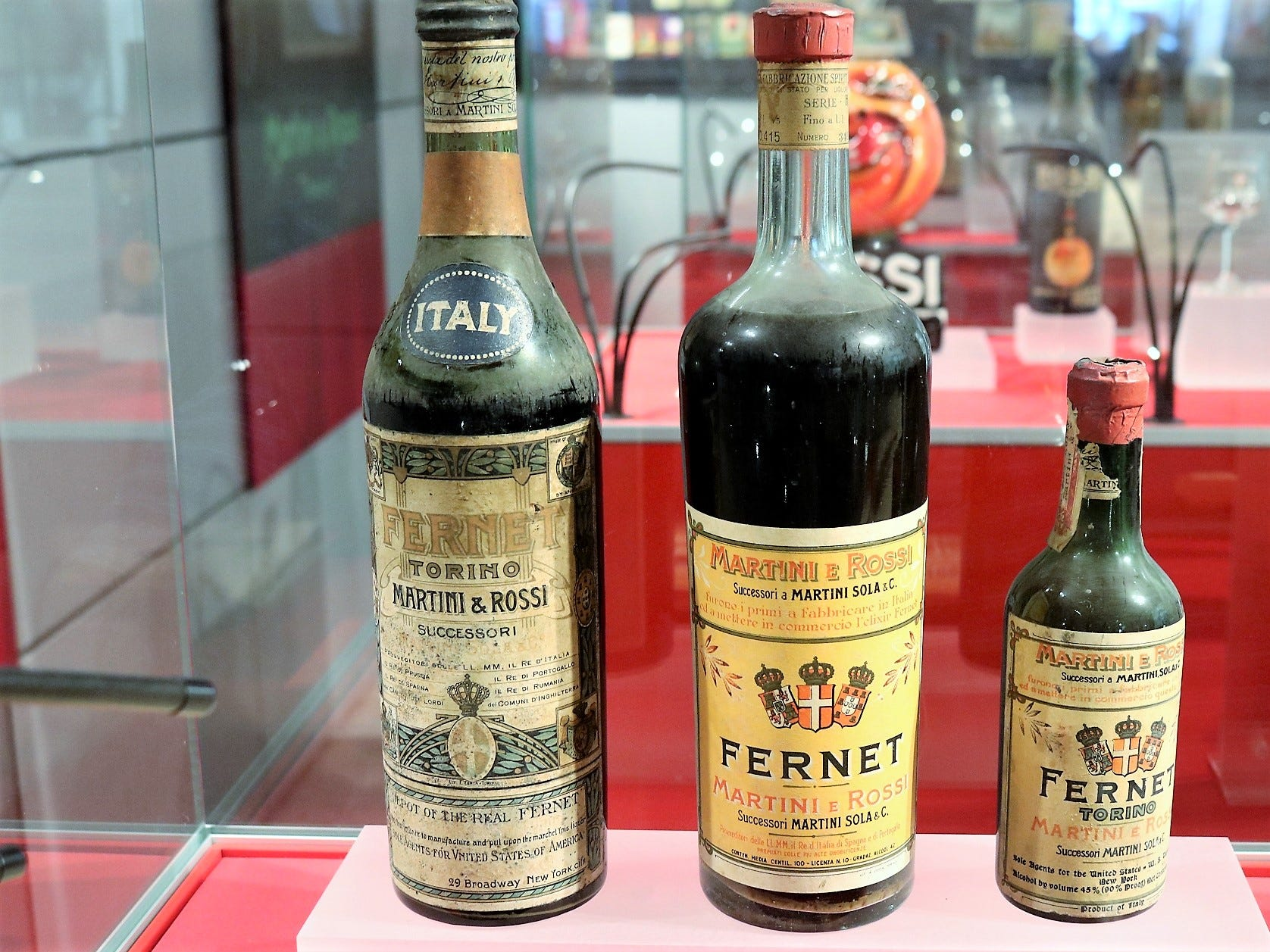 Martini & Rossi today is synonymous with vermouth. The company used to make a wider range of products, including fernet, a bitter amaro.