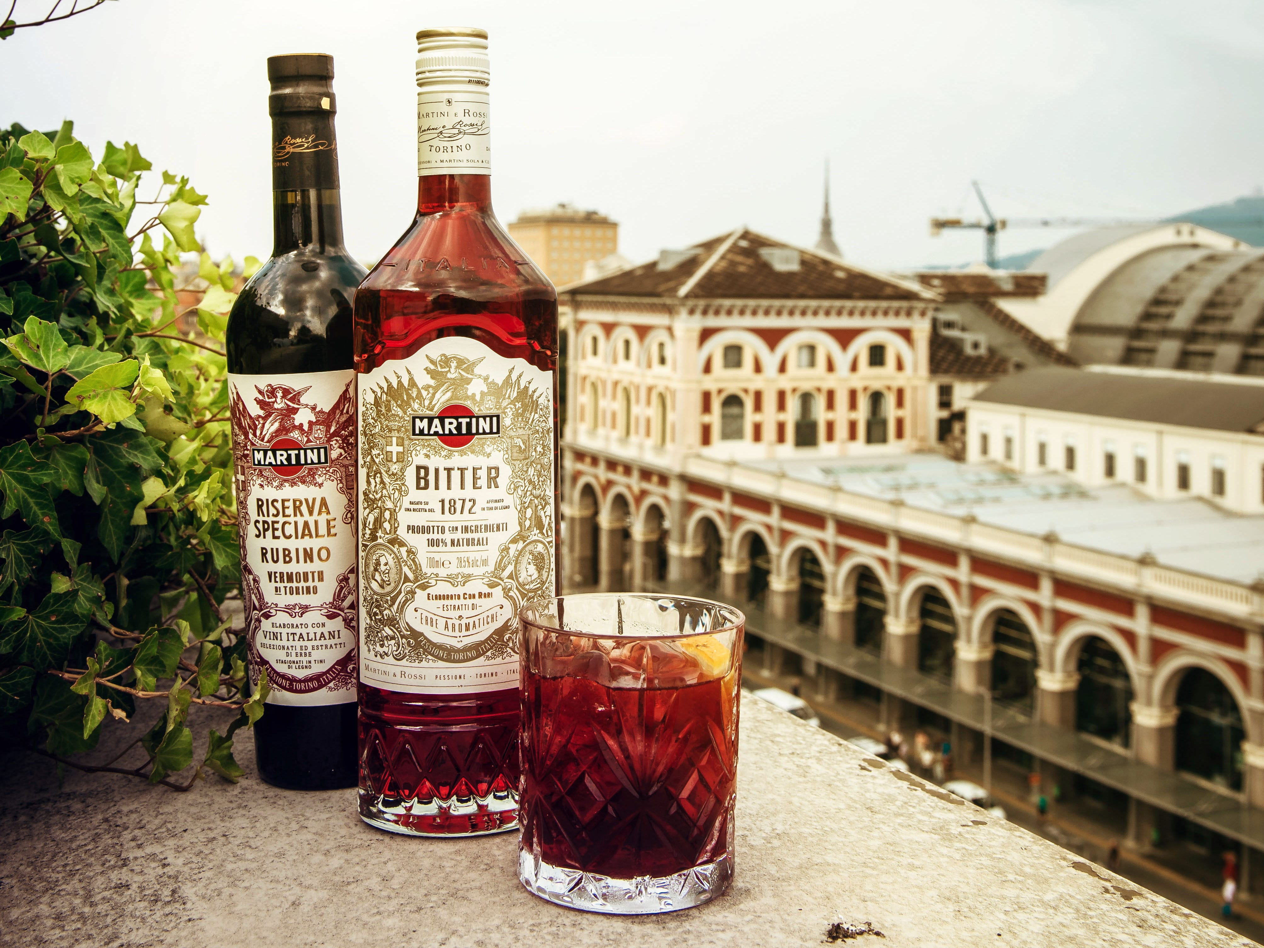 Riserva Speciale Rubino vermouth and Martini Bitter can be used in tandem in a range of cocktails, including Negronis and Americanos, which replace the gin with a topper of soda. Or try a Torino-Torino, a 50-50 split of Rubino and Bitter with a citrus peel garnish.