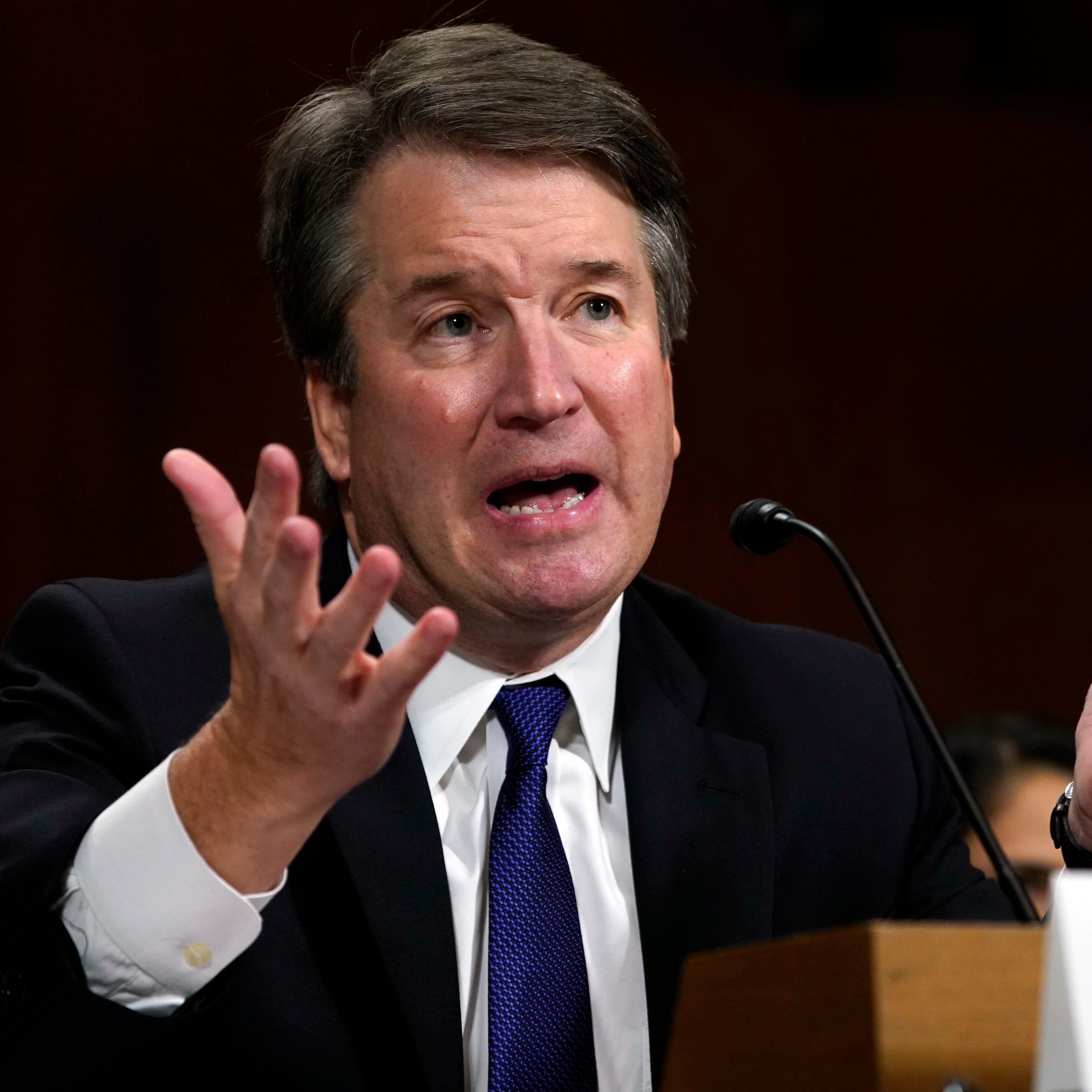Then Supreme Court nominee Judge Brett Kavanaugh testifies before the Senate Judiciary Committee on Capitol Hill in Washington, on Sept. 27, 2018.