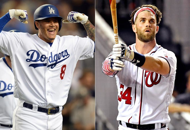 Manny Machado and Bryce Harper are the two most prized free agents this winter