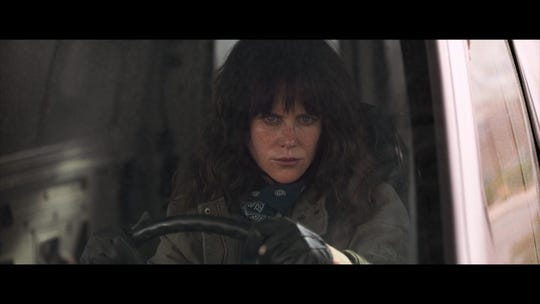 """Destroyer"" (R): A disheveled and furious Nicole Kidman roams the desert as a burned-out detective looking for decades-long revenge in this twisty neo-noir. 
