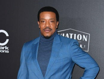 Actor Russell Hornsby arrives for the 22nd Annual Hollywood Film Awards at the Beverly Hilton hotel in Beverly Hills on November 4, 2018. (Photo by Mark RALSTON / AFP)MARK RALSTON/AFP/Getty Images ORG XMIT: 22nd Annu ORIG FILE ID: AFP_1AK86L