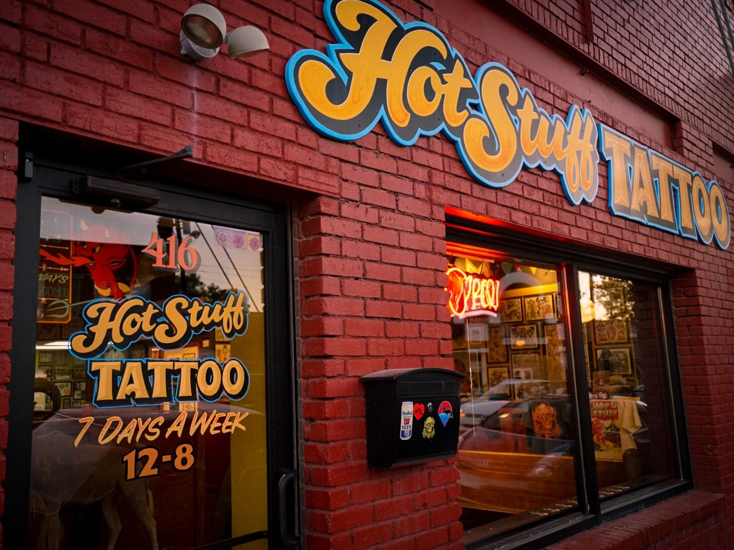 Hot Stuff Tattoo in Asheville North Carolina, consistently gets top ratings from locals, and visitors eager to bring home a souvenir from the Blue Ridge Mountains town.