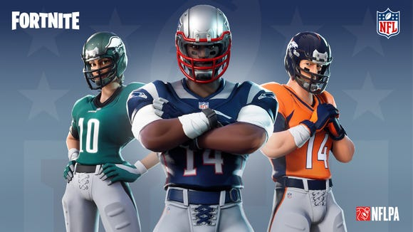 "NFL team ""outfits"" will be available in Fortnite's Battle Royale Item Shop beginning Nov. 9."