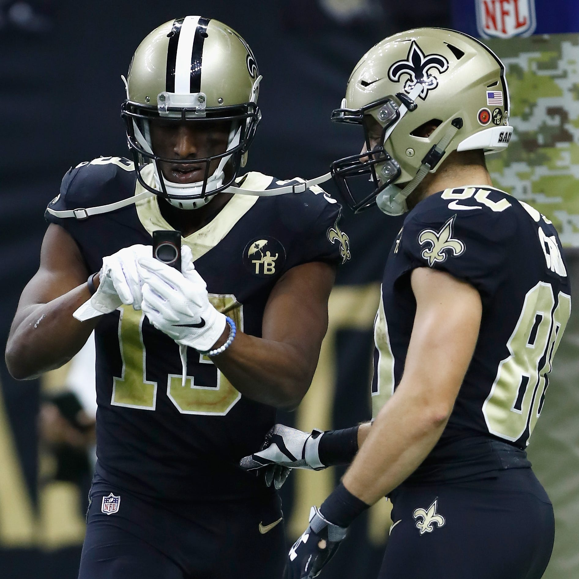 Michael Thomas answered the call before he pretended to make one in Saints' win over Rams
