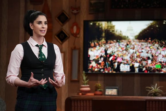 """Sarah Silverman gives monologues with her personal political beliefs and also reaches out to those with opposite views on her Hulu show """"I Love You, America."""""""