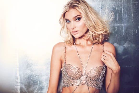 Model Elsa Hosk in Victoria's Secret 2018 Fantasy Bra.