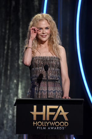 Nicole Kidman accepts the Hollywood Career Achievement Award onstage during the 22nd annual Hollywood Film Awards.