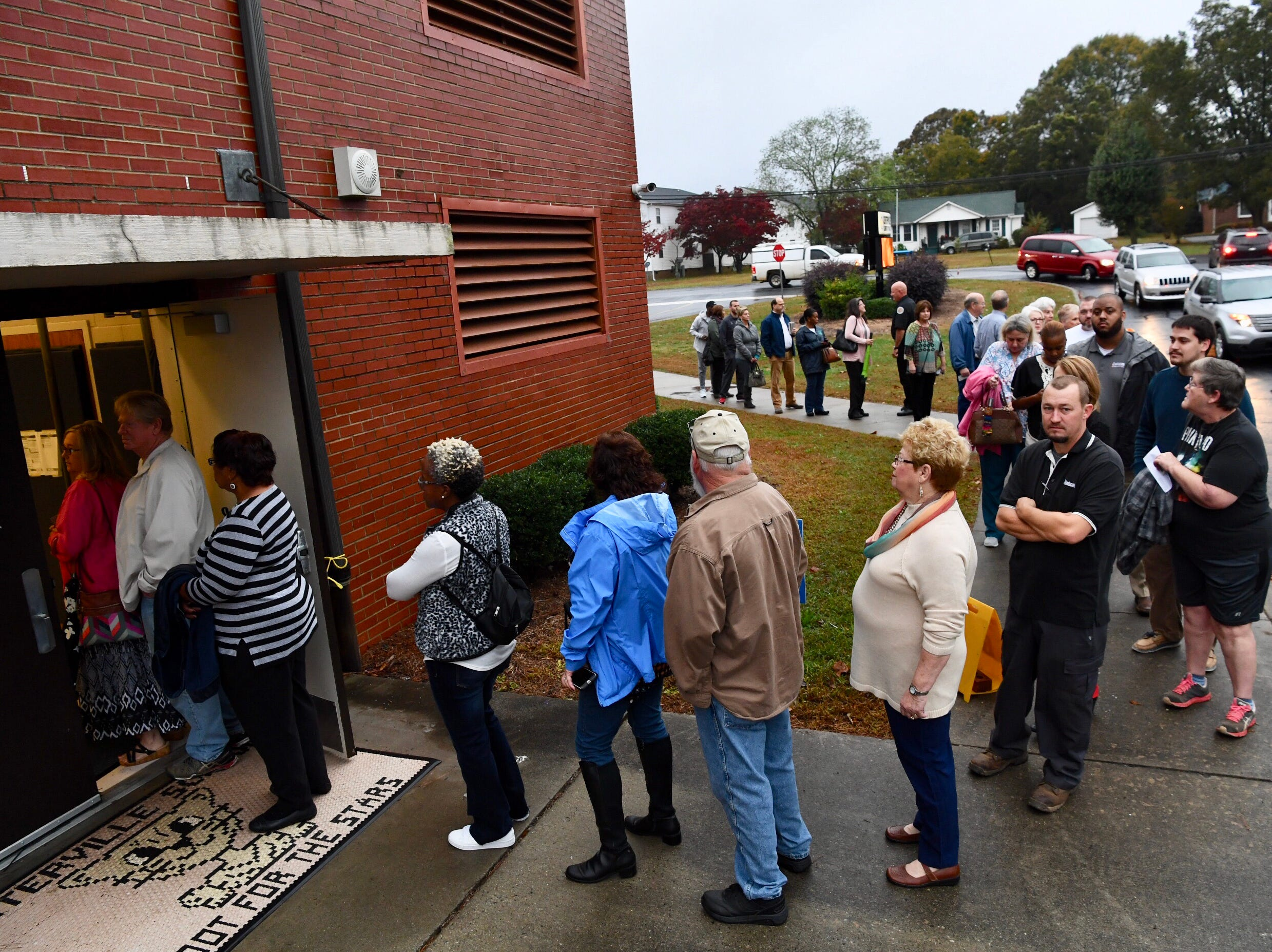 Crowds picked up as polling opened in Anderson at Centerville precinct, one of Anderson County's largest, on Tuesday, Nov. 6, 2018. South Carolina voters cast their ballot in the 2018 midterm elections to pick a governor and choose candidates in several local and statewide races.