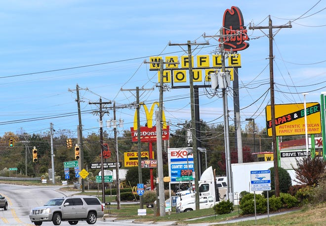 Restaurants on State Highway 81 North at I-85 in Anderson gets customers from locals and visitors passing through. The hospitality tax proposal, one to create a 2 percent hospitality tax on prepared food and beverages sold in Anderson County's unincorporated areas, was the subject of a nonbinding referendum on Election Day. Members of the County Council said they would use the results to gauge public interest in supporting the tax.