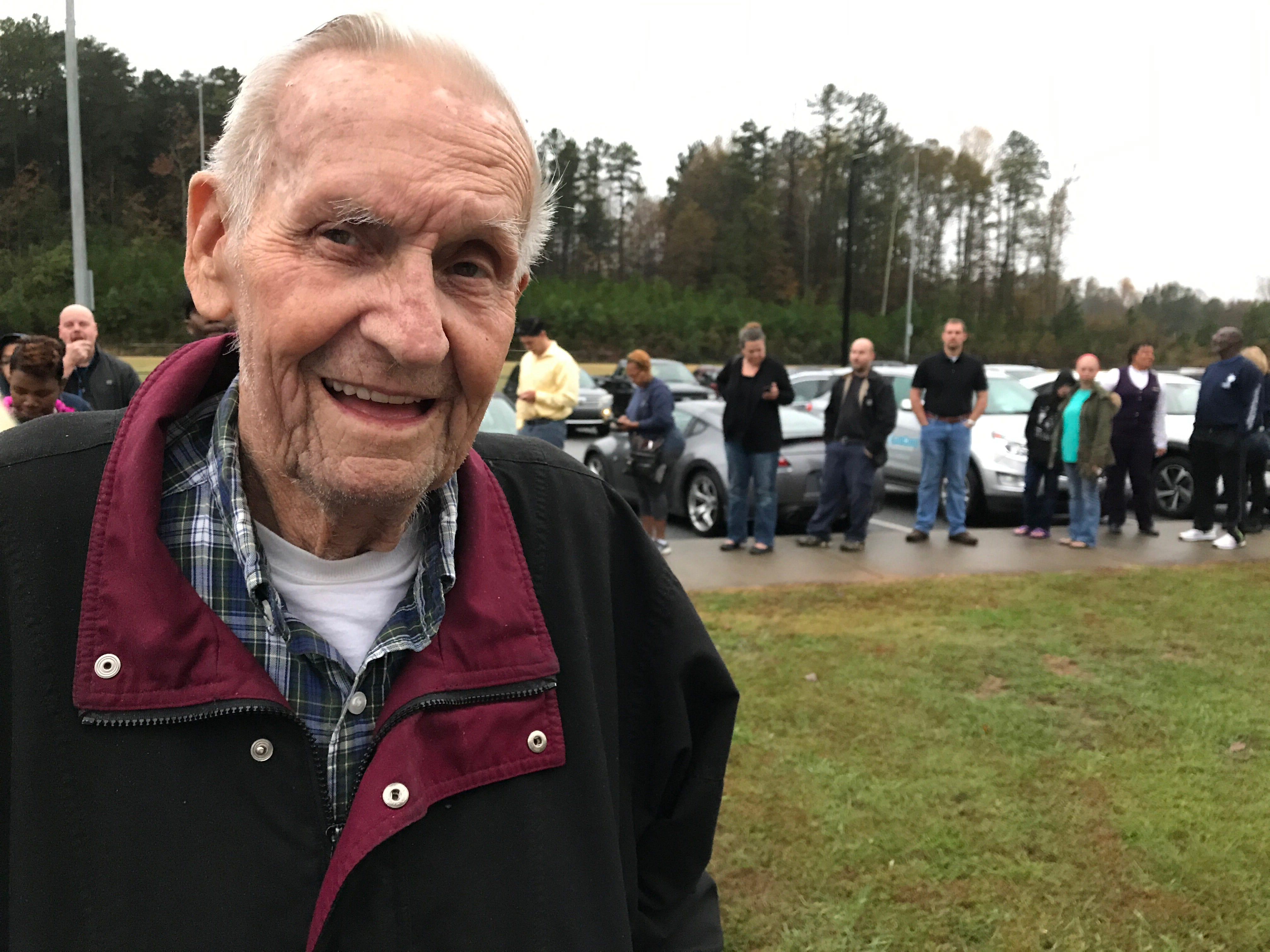 Perry Wilson, 85, said he cast his first ballot for President Dwight Eisenhower in 1952. He's been voting every election since. Here he is on Tuesday, Nov. 6, 2018, at the Powdersville precinct.