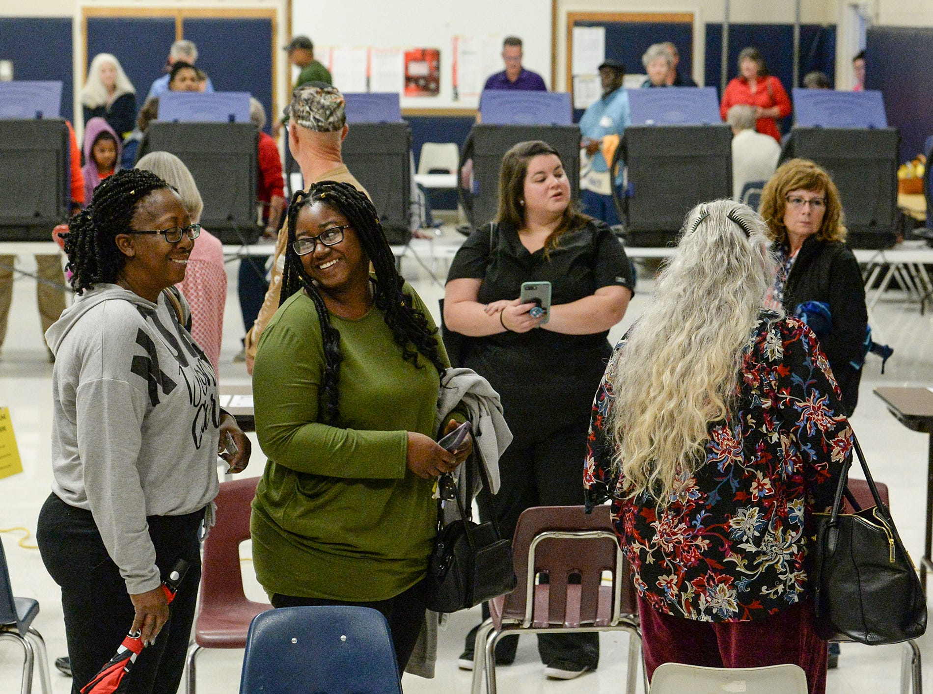 Voters arrive at Centerville percent to vote during elections in Anderson County on Tuesday, November 6, 2018.