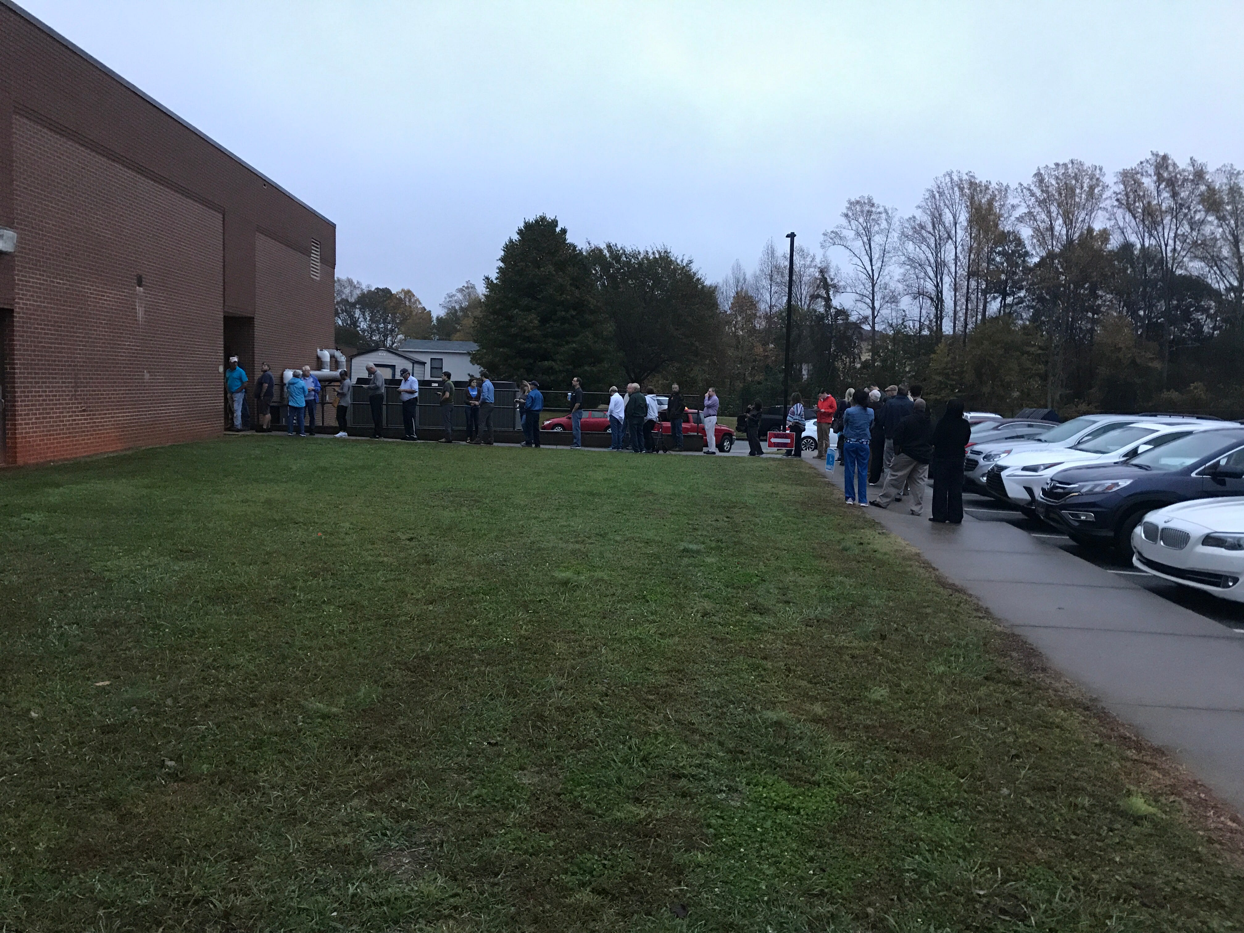 Voters line up at Powdersville Middle School in Anderson County to cast their ballot on Tuesday, Nov. 6, 2018, as South Carolina voted in the midterm elections.