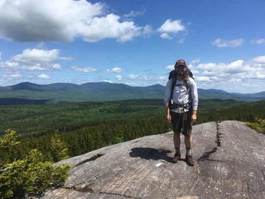 "Zach Jones, of Appleton, on this view from the Appalachian Trail: ""One of the many great views in the Hundred Mile Wilderness in Maine. This one is located in the Chairback Range."""