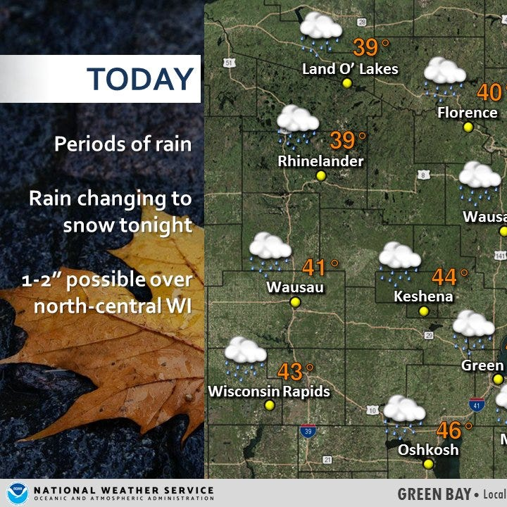 Wisconsin election weather: Rain, gusty winds in the forecast throughout the state