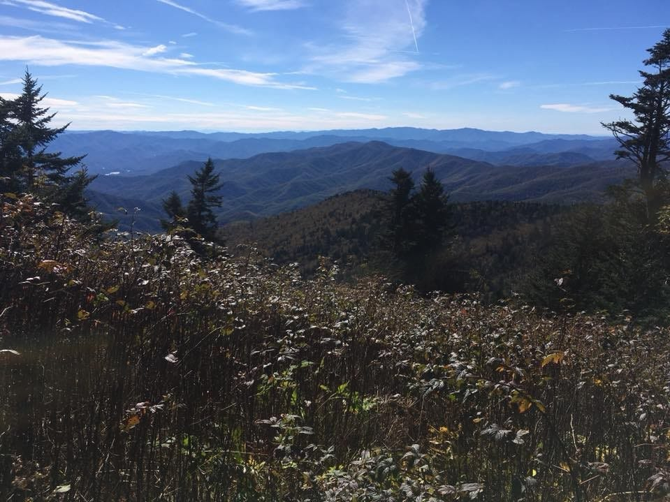 "Zach Jones, of Appleton, on this view from the Appalachian Trail: ""One of many excellent views in Great Smoky Mountains National Park, one of the highlights of the southern half of the trail. Fall color was just starting to show in mid-October. Apparently this year was hot so the color development was delayed."""
