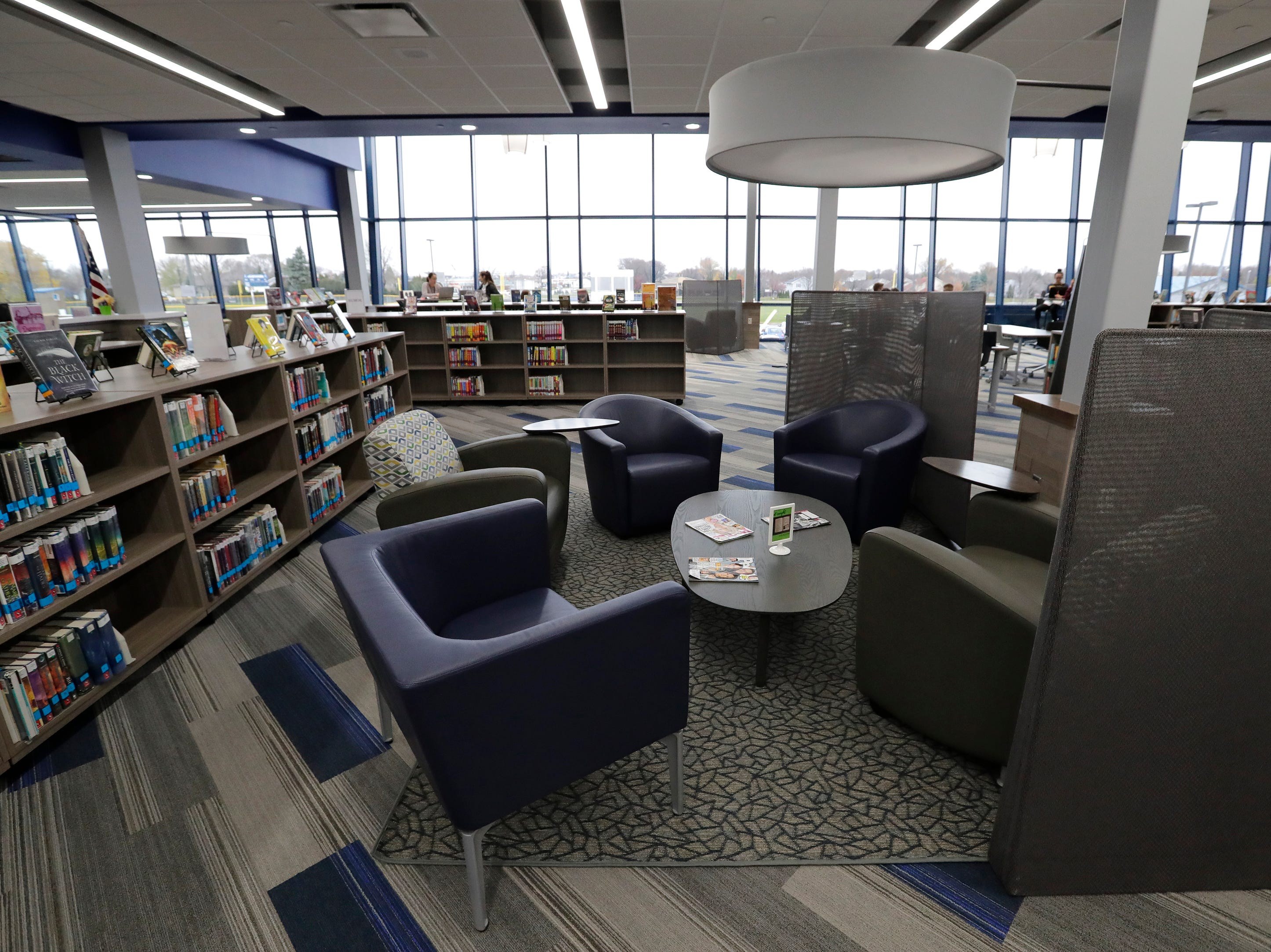 An area of the new library at Little Chute High School Tuesday, November 6, 2018, in Little Chute, Wis. 