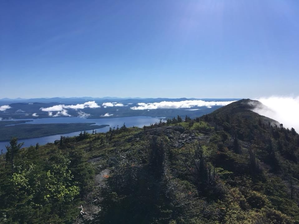 "Zach Jones, of Appleton, on this view from the Appalachian Trail: ""Morning view from West Peak of Bigelow Mountain in Maine, one of my favorites of the whole trip. You can get a sense of the ruggedness of the landscape, as well as the interesting cloud formations that occur in the mountains."""