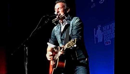 Bruce Springsteen at the Stand Up for Heroes veterans benefit, Monday, Nov. 6 at Hulu Theatre inside Madison Square Garden in New York City.