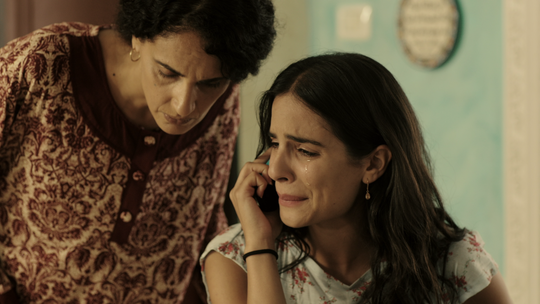 "Luna Mansour, right, in a scene from Season 2 of ""Fauda."""