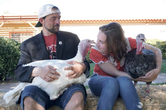 Kevin Smith Alexandra Turkey Harleyt Quinn Smith George Turkey Farm Sanctuary